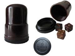 Mini Knobelbecher, Plasta VVB Leipzig - Höhe 4.5 cm