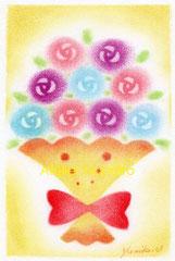 バラの花束(ハガキサイズ)