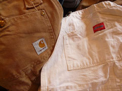●MADE  IN  U.S.A. Carhartt オーバーオール(ダック) W29くらい ¥5500  thanks sold  ●MADE  IN  U.S.A. Dickies オーバーオール (ホワイト) ¥6300 thanks sold