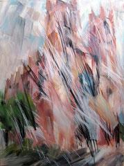Die Friedrichswerdersche Kirche. Acryl, Pastell u.Kohle auf Leinwand, 120x160 cm. 2011