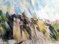 Die Neue Wache. Acryl, Pastell und Kohle auf Leinwand. 160x120 cm. 2011