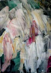 Amor e Psiche, 150x200 cm. acrilico e pastello su tela, 2007