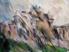 Das Brandenburger Tor. Acryl, Pastell u.Kohle auf Leinwand, 160x120 cm. 2011