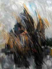 Der Dom. Acryl, Pastell u.Kohle auf Leinwand, 120x160 cm. 2010