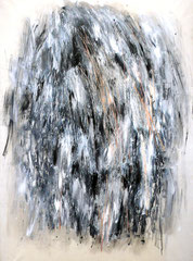 Nuotatore. acrilico e pastello su tela, 150x200 cm, 1990