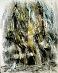 Roma, Trinità dei Monti. Acrilico e pastello su tela, 145x175 cm,1991