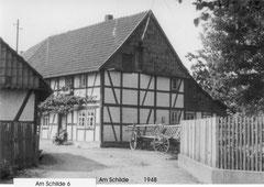 """So sah das Haus von """"Deppen Böddeker"""" Am Schilde 8 früher aus,"""