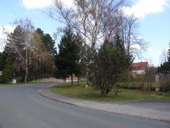 Die Kurve wurde Anfang der 60-er Jahre etwas flacher, die Straße verbreitert,und das Haus von Familie Klaproth abgerissen. Als Ersatz bekam sie das Grundstück in der Schwiegershäuser Straße, wo jetzt Hartmut Brandt wohnt.