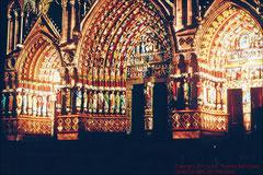 Kathedrale von Amiens, Westportale farbrekonstruiert