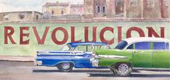 Revolution  26 X 48  watercolor  by Tony Armendariz  $2500