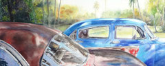 Bel Air Paradise  38 X 48 watercolor  by Tony Armendariz   $3000