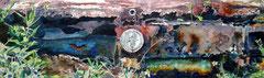 '65 Mustang   19 X 45  watercolor  by Tony Armendariz   $1800