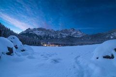 Eibsee im Winter by Sebastian Pintea