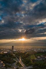 Sonnenuntergang München by Sebastian Pintea