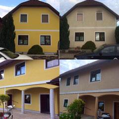 Fassadengestaltung - Vorher/Nachher