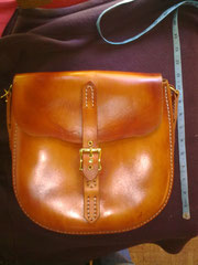 Large Bag, Saddle Style, Leather, Hand-made