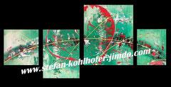 ohne Titel - 2013 - 4-Teilig aus der Serie Herzensangelegenheiten; Acryl auf Leinwand