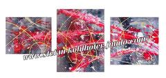 ohne Titel- 2013 - 3-Teilig; Acryl auf Leinwand