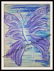 Schmetterling 1 - 2014 - Pastellkreide auf Papier, Größe A3