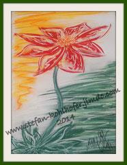 Blume 1 - 2014 - Pastellkreide auf Papier, Größe A3