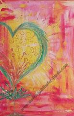 Herzchakra - 2013 - Serie Herzensangelegenheiten; Acryl auf Leinwand, 120x80cm