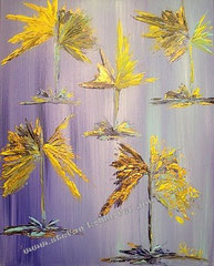 magic flowers - Acryl auf Leinwand