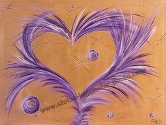 Wachstum - 2013 - Serie Herzensangelegenheiten ; Acryl auf Leinwand- VERKAUFT