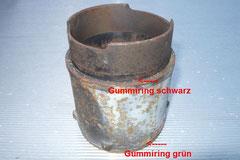 Zylinderlaufbuchse vom Wasserboxer die vom Kühlwasser umspült wird. Defekte Gummiringe führen zu Wasserverlust im Motor.