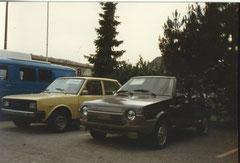 nagelneuer Fiat Ritmo und Fiat 131 bei einem Fiat Händler