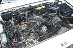 DER beste Motor im T3 ist der 78 PS Vergaser Wasserboxer, Motorkennbuchstabe DG , laufruhig und robust. Hier mit mit einer HJS 2000 G-Kat Nachrüstung und altem Wasserkreislauf (bis 85)