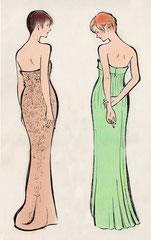 ファッションイラスト 筆タッチイラスト 女性 全身
