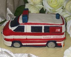 Marzipanauto, Feuerwehr, Einsatzfahrzeug