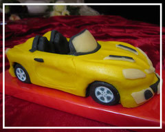 "Marzipanauto ""Opel GT"" gelb"
