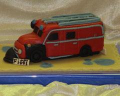 Marzipanauto, Feuerwehr, Oldtimer