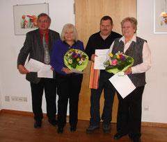 25 Jahre Mitgliedschaft - Karin Heiden, Wolfgang Brunner und Sieglinde Walter