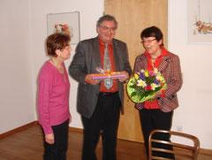 Brigitte Schwarz verabschiedet Ursula und Karl Hirschmann