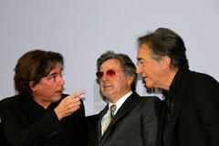 Jean-Michel Jarre, Daniel Auteuil et Richard Berri - Festival Lumière - Lyon - Oct 2013 - Photo © Anik COUBLE