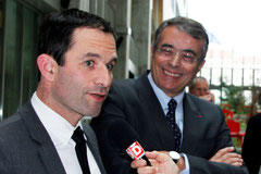 Benoît HAMON et Jean-Jack QUEYRANNE - Lyon - 2013 - Photo © Anik Couble