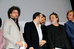 Radu Mihaileanu, François Xavier Demaison et Xavier Durringer - Festival Lumière - Lyon - Oct 2013 - Photo © Anik COUBLE