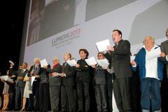 Les invités déclarent ouvert le Festival Lumière  - Lyon - Oct 2013 - Photo © Anik COUBLE