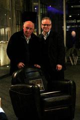 Raymond Depardon et Thierry Fremaux - Institut Lumière - Lyon - 2013 © Anik COUBLE