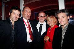 Thierry Fremaux, entouré de Max Lefrancq-Lumière, Mathieu Demy, Michèle Lefrancq Lumière et Eric Guirado - Festival Lumière - Lyon - Oct 2013 - Photo © Anik COUBLE