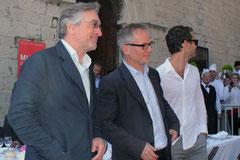 Robert De Niro, Thierry Fremaux et Jude Law - Festival de Cannes 2011 © Anik COUBLE