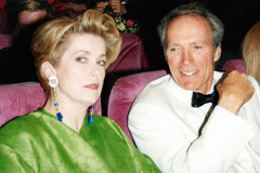 Clint Eastwood et Catherine Deneuve - Festival de Cannes © Anik COUBLE