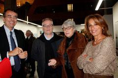 Jean-Jack Queyranne,  Thierry Fremaux, Claudine Nougaret et Farida Boudaoud - Hôtel de Région - Lyon 2012 © Anik COUBLE