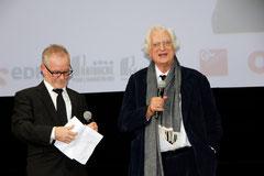 Thierry Fremaux et Bertrand Tavernier - Festival Lumière - Lyon - Oct 2013 - Photo © Anik COUBLE