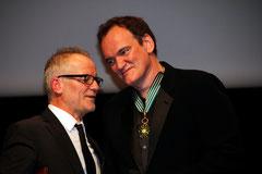 Thierry Fremaux et Quentin Tarantino  - Festival Lumière 2013 © Anik COUBLE