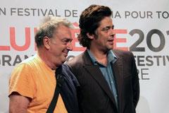Stephen FREARS et  Benicio DEL TORO - Festival Lumière 2011 © Anik COUBLE