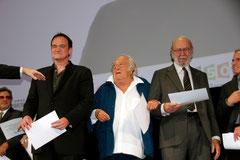 Quentin Tarantino, Charles Lautner et Jean-Pierre Marielle - Festival Lumière - Lyon - Oct 2013 - Photo © Anik COUBLE