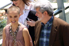 Nathalie PORTMAN et Georges LUCAS - Festival de Cannes 2005 - Photo © Anik COUBLE